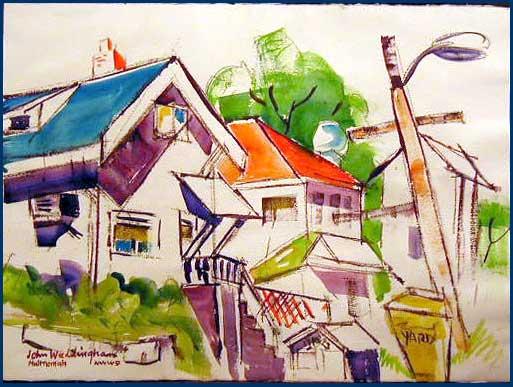 John Waddingham painting 35th Near Marco's
