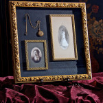 Framed heirloom pictures and pocketwatch