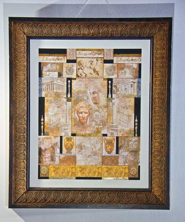 Image of Richard Hall's painting Classical Code I