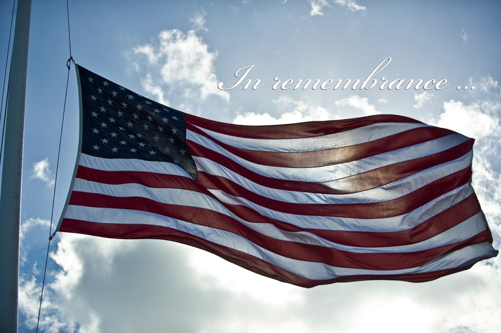 United States flag at half-mast