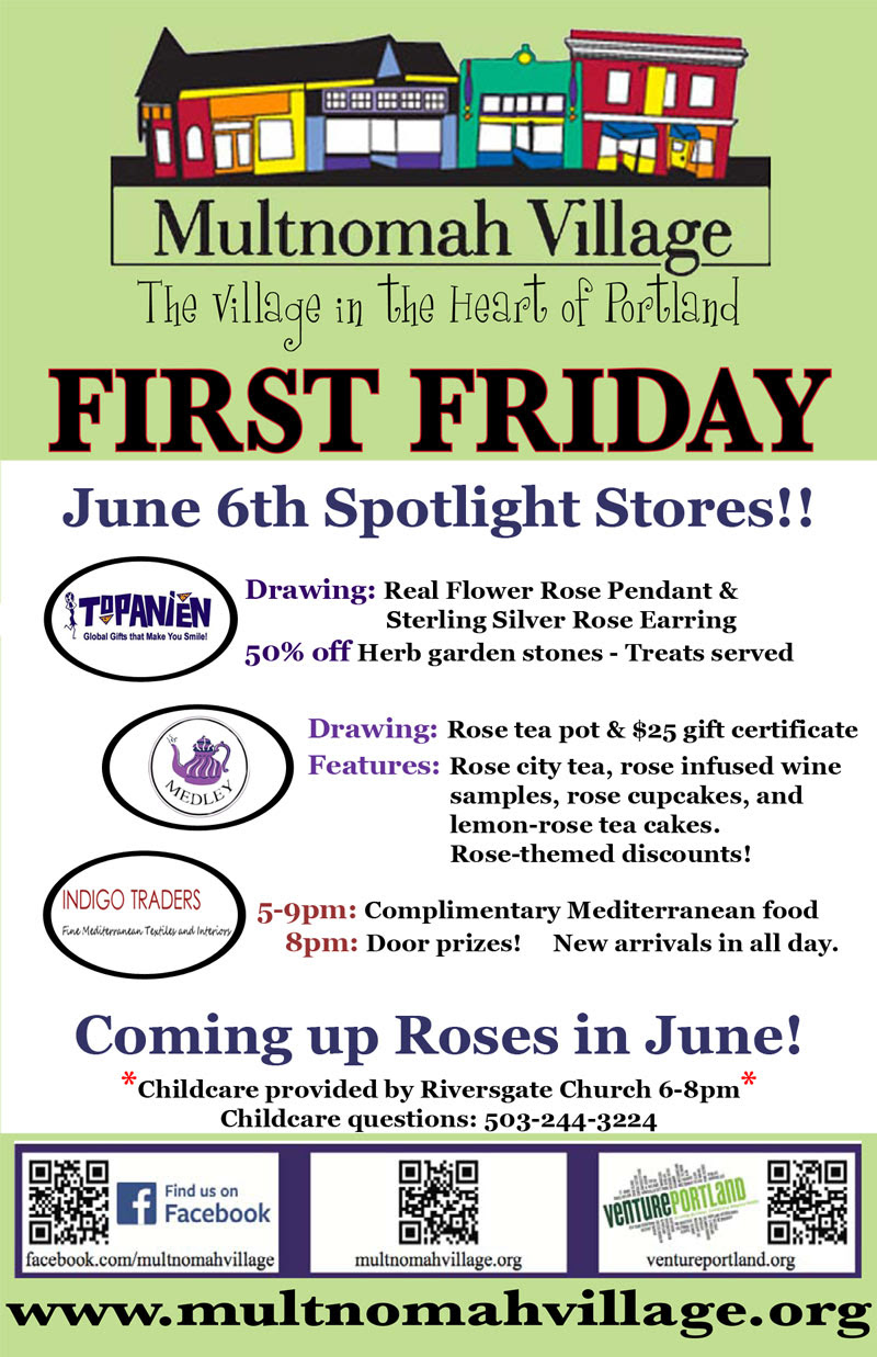 First Friday Poster for June 6th