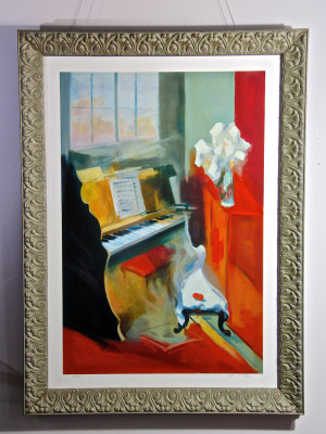 Image of Gholam Yunessi's painting Sonata