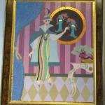 Illustration of wealthy flapper