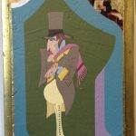 Colorful illustration of serious man in Victorian era costume