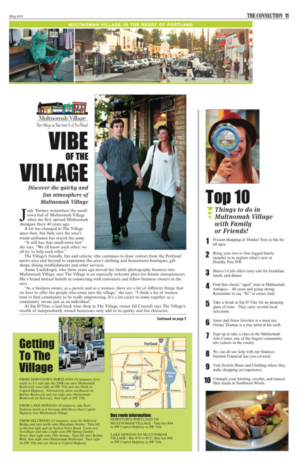 Click here to go to Multnomah Village Vibe article