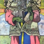Colorful drawing of St. Matthew