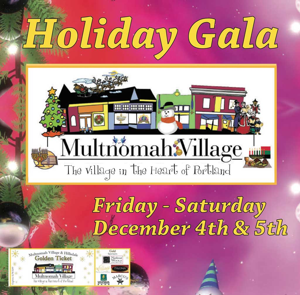 Multnomah Village Holiday Gala poster