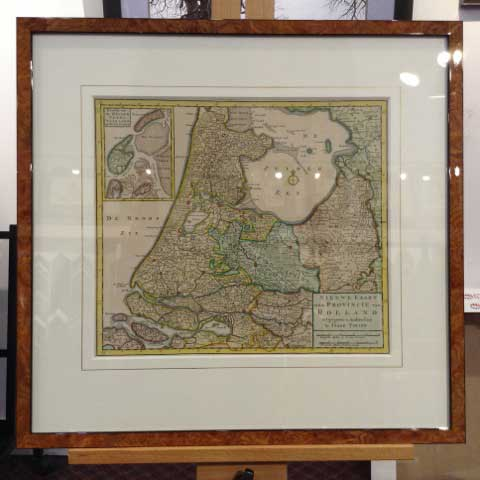 Vintage map in frame