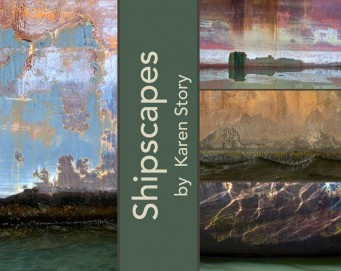 Collage of Karen's paintings of the sea