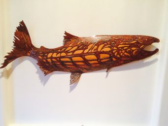 3D Copper Salmon by Carrier Moore