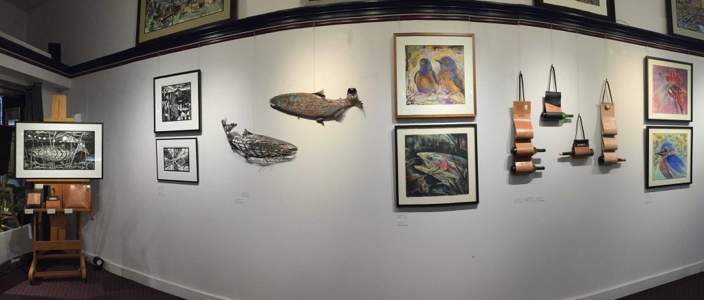 Carrie Moore exhibit currently showing at Village Frame & Gallery