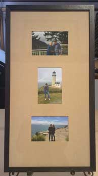 Framed photos of vacation snapshots