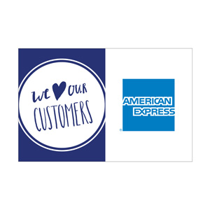 We love our customers and accept American Express logo