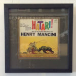 Font of Hatari by Henry Mancini in frame